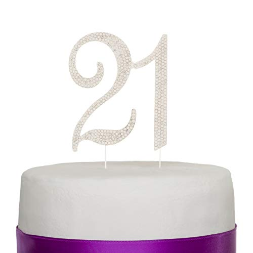 Ella Celebration 21 Cake Topper for 21st Birthday Party Supplies & Decoration Ideas