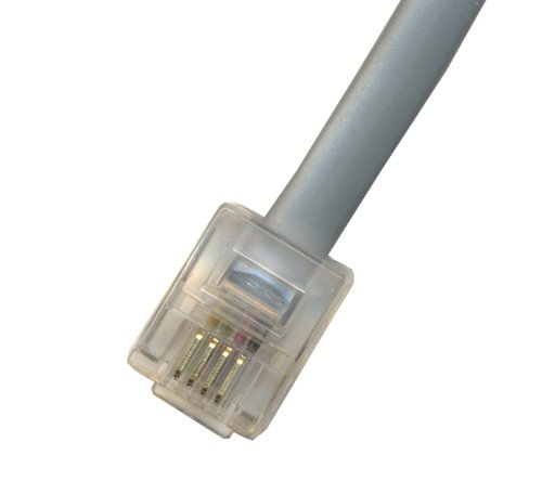 RiteAV - 3FT (0.9M) RJ11 Male to RJ11 Male 6P4C Phone Line Cord - Gray by RiteAV