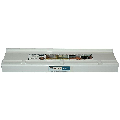 4-1/8 in. x 80 in. White PVC Sloped Sill Pans for Door and Window Installation and Flashing (10-Pack) by SureSill