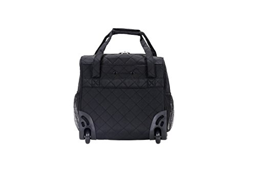 31VlBOzKckL - Rockland Wheeled Underseat Carry-on, Black