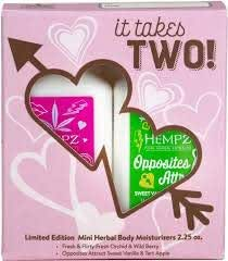 Hempz Moisturizer It Takes Two Limited Edition Valentine Kit 2 count 2.25oz Each