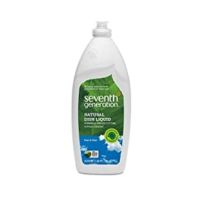 Seventh Generation Natural Liquid Dish Soap Unscented 2-pack;25 Oz Each.