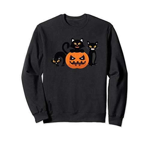 Halloween Cats & Jack-O-Lantern Pumpkin Halloween -