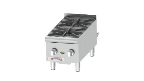 Grindmaster-Cecilware HPCP212 Heavy Duty Stainless Steel Gas Hot Plate with 2 Burners