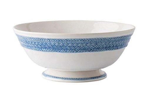 "Juliska Le Panier White/Delft 11"" Footed Fruit Bowl"