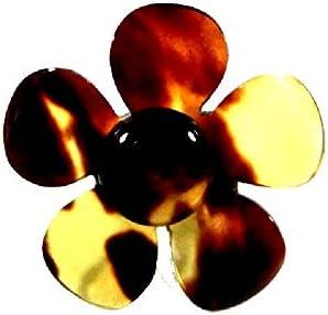 【創業145年べっ甲の菊池】本べっ甲ピンブローチ(花)ー49 【全商品セール中】