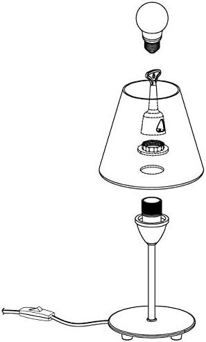 Eglo Damasco 1 - Lampada da tavolo in acciaio nichelato opaco, 60 W