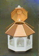 Bird Feeder with Double Copper Roof Amish Made in USA