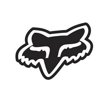 Fox Racing Car Sticker Logo Solid Face Vinyl 76 Mm Black