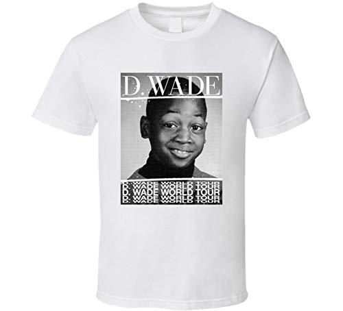 - D Wade Word Tour Dwyane Miami Basketball Player Fan T Shirt M White