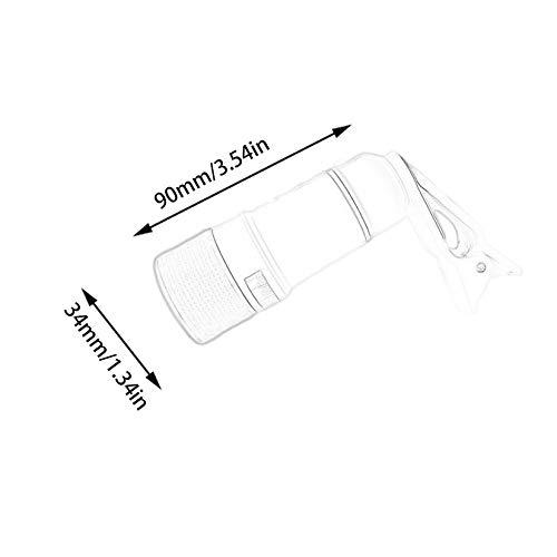 ZengBuks Lente de telefoto con Zoom port/átil 14X Lente de la c/ámara del tel/éfono m/óvil con Clip para iPhone Lente Universal Lente del tel/éfono m/óvil DSLR Blanco