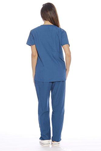 22255V-S Carribean Blue Just Love Women's Scrub Sets / Medical Scrubs / Nursi...
