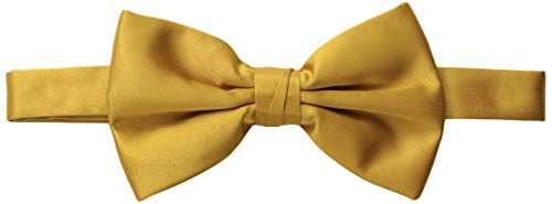 Stacy Adams Men's Satin Solid Bow Tie, Gold, One (Adam Satin)