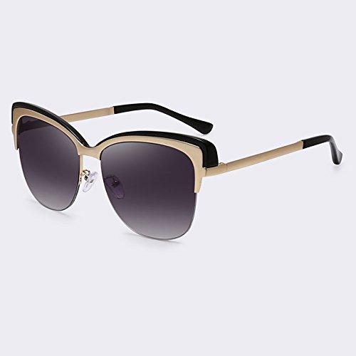 Gafas Semi Gafas sol sombras Marco de C06 C06 de UV400 del TIANLIANG04 sol de Senza de vintage qtCx8XwSg