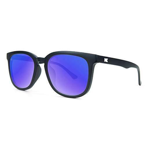 Knockaround Paso Robles Polarized Sunglasses With Matte Black Frames/Blue Reflective ()