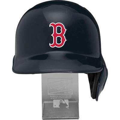 Rawlings MLB Boston Red Sox Replica Batting Helmet with Engraved Stand, Official Size, Blue
