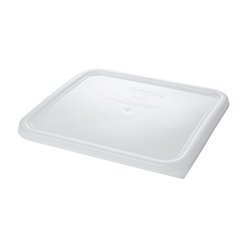 Food Service Plastic Container (Rubbermaid Commercial Plastic Food Storage Container Lid, Square, White, 22 Quart, FG652300WHT)
