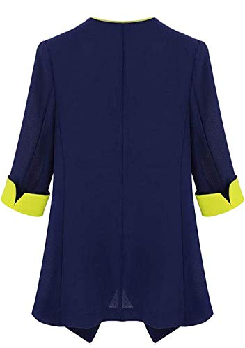 Fit Marca Colour Slim Outerwear Mode Elegante Lunga Cerniera Festiva Blazer Colori Giacca Con Di Giaccone Cappotto Business Moda Donna Vintage Primaverile Misti Manica Autunno nRwpgS8q