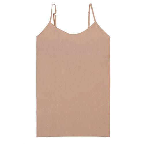 Nude Strap Camisole - BollyQueena Tank Tops Strap, Woman Tank Tops Camisole Leotard Tank Top Fashion Women Complexion S