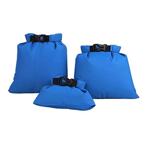 ❤️Jonerytime❤️Waterproof Dry Bag Sack Ocean Pack Floating Boating Kayaking Camping 3pcs (Blue)