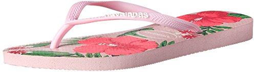 Havaianas Women's Slim Floral Flip Flop, Light Pink, 37 BR/7-8 M US - Havaianas Floral Flip Flops