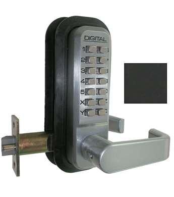Lockey 2835 DC JB - Lever Lock w/ Passage (Jet Black)