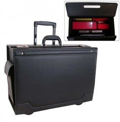 (Stebco Document Case on Wheels with Leather Trim)