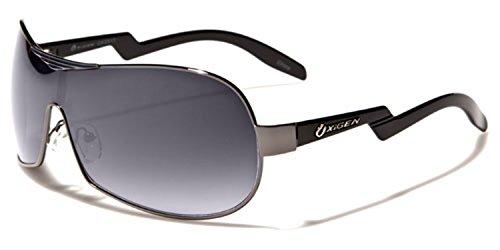 Oxigen - Lunettes de soleil - Homme Multicoloured Taille unique  Black gunmetal black lens 1b6946ec7c9f