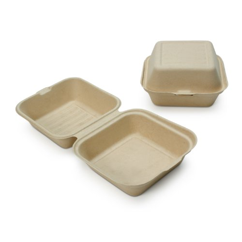 Earths-Natural-Alternative-Wheat-Straw-Fiber-Bagasse-Sugarcane-Tree-Free-6-x-6-Clam-Shell-Container-500Case