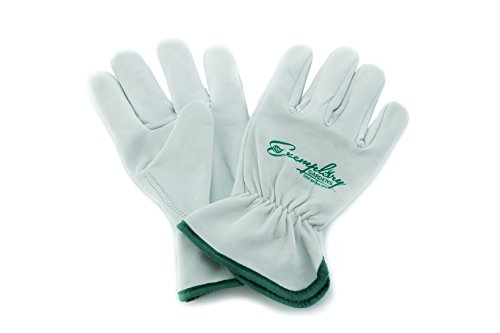 - Heavy Duty Goatskin Leather Work Gloves for Men and Women. General Purpose Utility, Driver, Rigger, Safety, and Gardening Gloves (Large)
