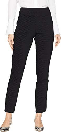 Krazy Larry Women's Pull-On Ankle Pants Black Velvet Dot 2 28
