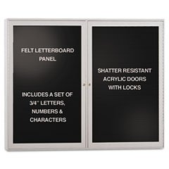 Ghent 48 x 36 in. Enclosed Letter Board by Ghent