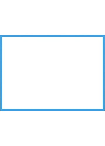 A7 Flat Notecards (5 1/8 x 7) - Pool Blue Border Cards (1000 Qty.) by Envelopes Store