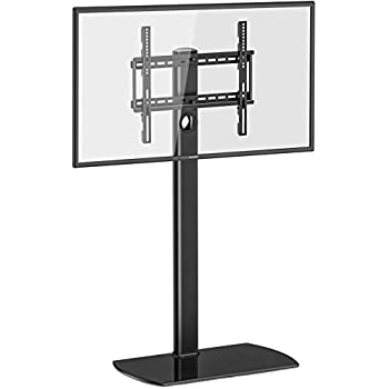 Amazon Com Mofo Pole Modern Tv Stand With Media Glass