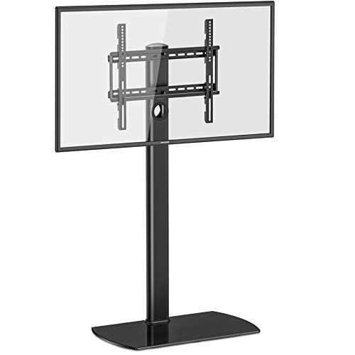 FITUEYES Floor TV Stand with Swivel Mount Height Adjustable for 32 to 55 inch LCD, LED OLED TVs,TT106501GB (Best Visio Alternative For Mac)