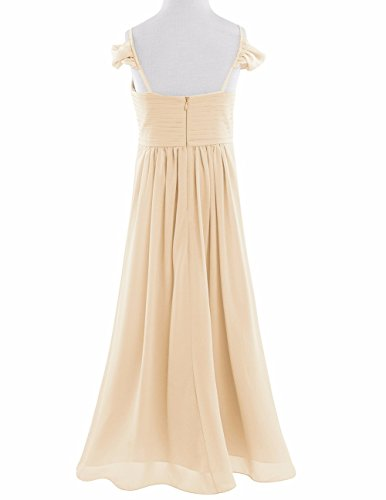 iEFiEL Big Girls Off-Shoulder Ruffle Chiffon Formal Gowns Evening Party Prom Wedding Princess Floor Length Dress: Amazon.co.uk: Clothing
