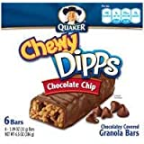 Quaker Chewy Dipps Chocolate Chip Granola Bars, 6.5 OZ (Pack of 12)