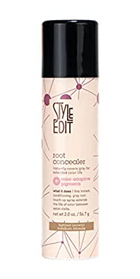 Root Concealer (Lightest Brown/Medium Blonde) 2oz by Style Edit Instantly Covers Gray Hair Between Color Services!