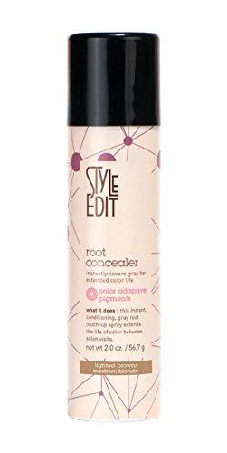 Style Edit Medium Blonde Root Concealer, Lightest Brown, 2 Ounce