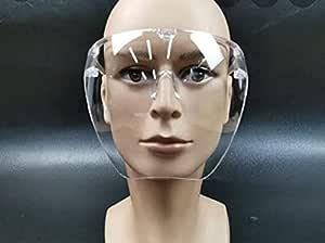 Full Clear reusable and washable Face Shield Face Mask Transparent Glasses Visor anti-Fog Fashion