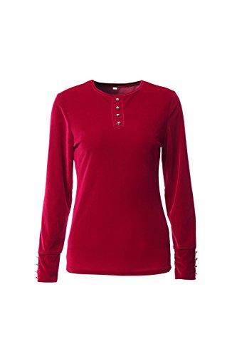 Casual Simple Bodycon T Shirts de la mujer Red