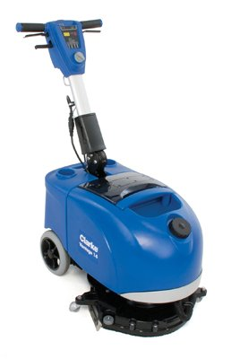 Clarke 9087305020 Vantage 14 Battery Operated Micro Autoscrubber, Includes 12V 87Ah AGM (Battery Operated Automatic Floor Scrubber)
