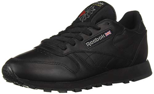Reebok Men's Classic Leather Sneaker, Black, 12 M
