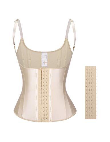 Body Shaper Shapewear - Lover-Beauty Latex Steel Bone Waist Cincher Vest Underbust Fat Burning Corset Body Shaper Beige M