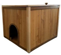 Cat Litter Box Furniture 23x25x19 Comes In Caramel, Black, White And A  Rustic Wood