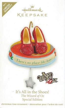 2011 It's All in the Shoes Wizard of Oz Hallmark Ornament Limited Edition ()