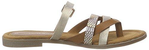 Marco Tozzi 27106 - sandalias abiertas de lona mujer Marrón - Braun (MUSCAT ANT.COM 366)