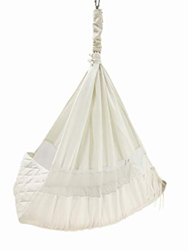 Baby Hammock Baby Cot Baby Swing Without Metal Frame (white) (Baby Hammock Amby)