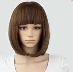 Mermaid Short Straight Hair Wig Flapper Bob Heat Resistant Candy Color Wigs Natural As Real Hair, Fashion for Cosplay Party Halloween Christmas (Light (Mermaid Wig In Blonde)