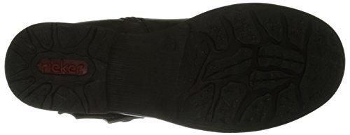 Rieker 97263, Women's Ankle Boots Black (Schwarz/Schwarz Silber/00)
